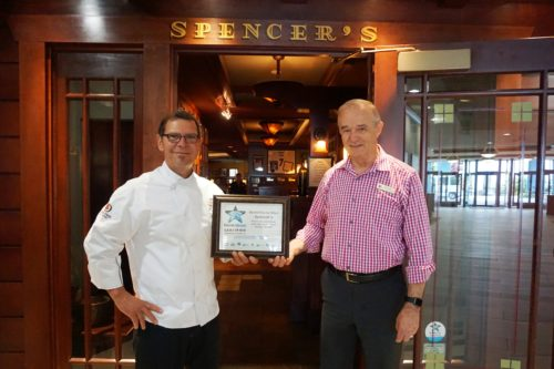 Chef James Burch with Barry Wright